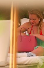ELISABETH MOSS on the Set of Next Goal Wins at a Beach in Oahu 12/16/2019