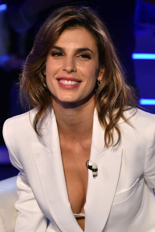 ELISABETTA CANALIS at Domenica In TV Show in Rome 12/15/2019