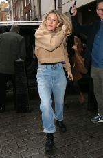 ELLIE GOULDING Arrives at BBC 1 Live Lounge Performance in London 12/17/2019