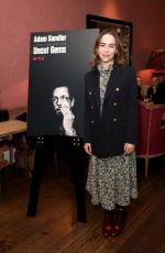 EMILIA CLARKE at Netflix Tastemaker Screening of Uncut Gems in London 12/11/2019