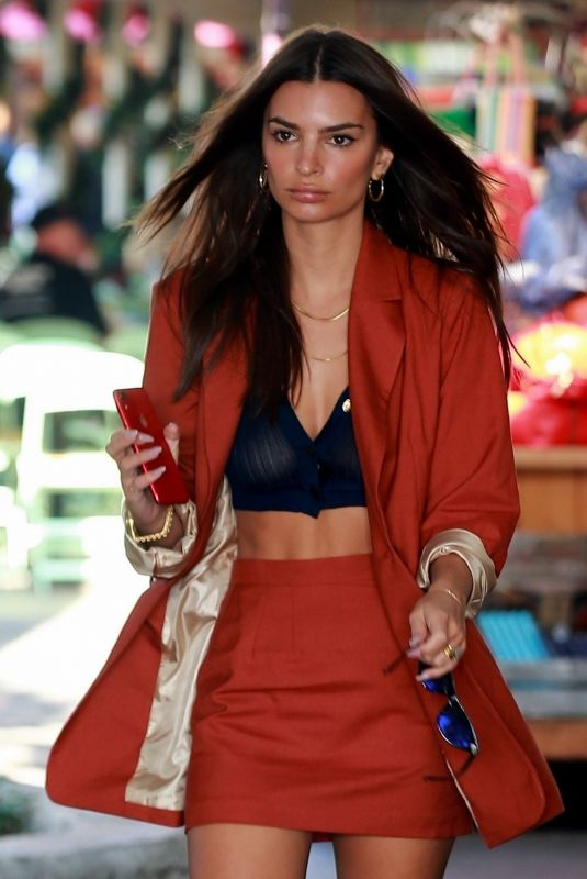 EMILY RATAJKOWSKI Arrives at a Meeting at The Grove in Los Angeles 12/13/2019