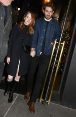 EMMA STONE and Dave McCary Arrives at SNL Afterparty in New York 12/07/2019