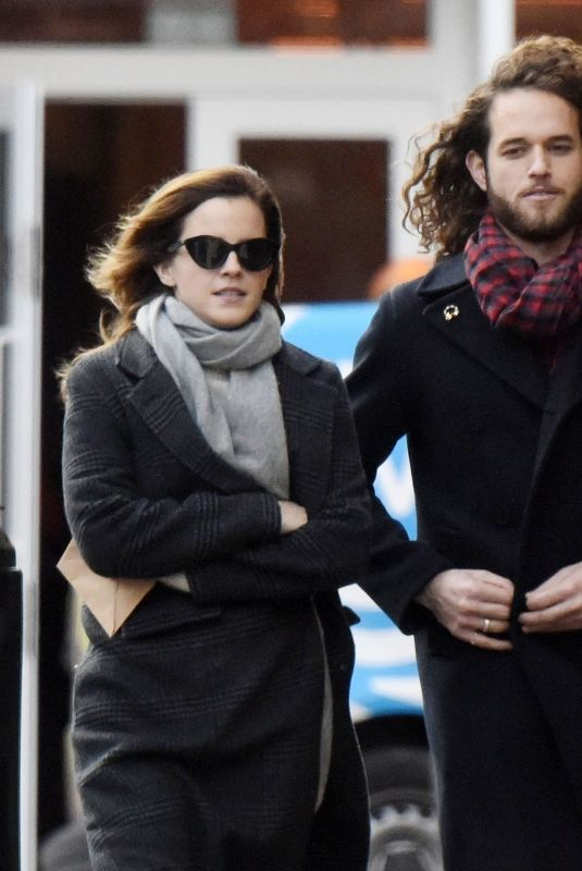 EMMA WATSON Out with Her Boyfriend in London 12/18/2019