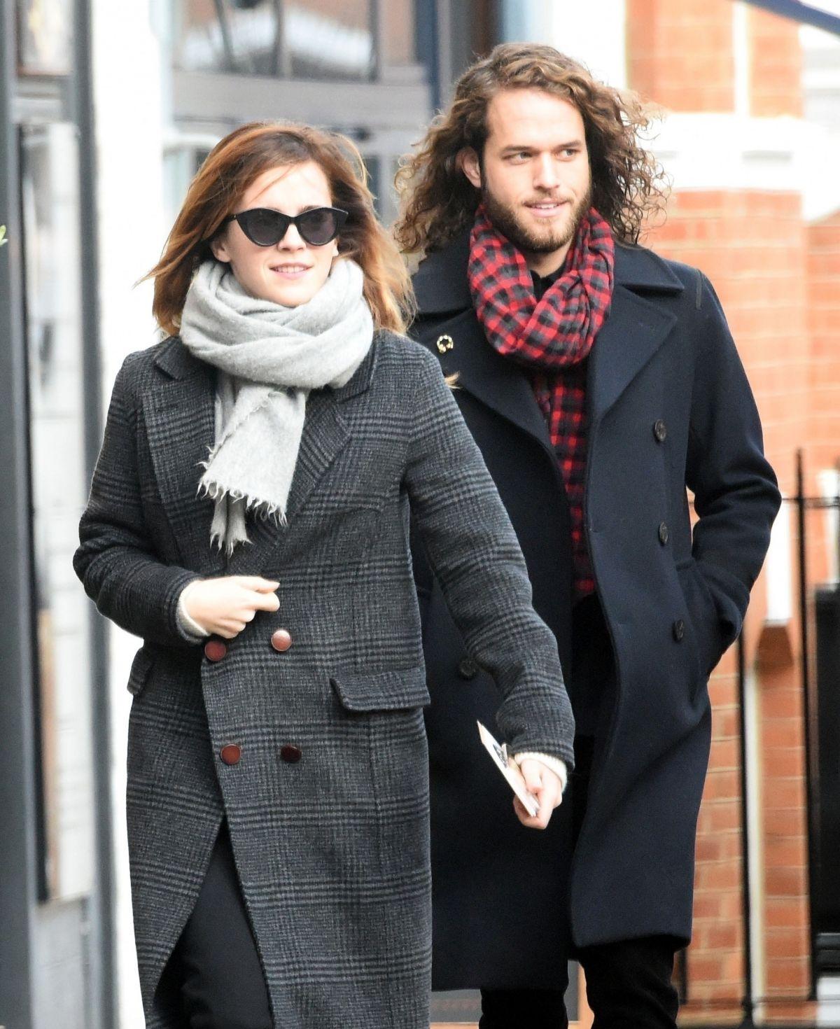 EMMA WATSON Out with Her Boyfriend in London 12/18/2019