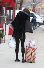 FAMKE JANSSEN Out Shopping in New York 12/27/2019