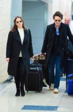 FELICITY JONES at JFK Airport in New York 11/30/2019