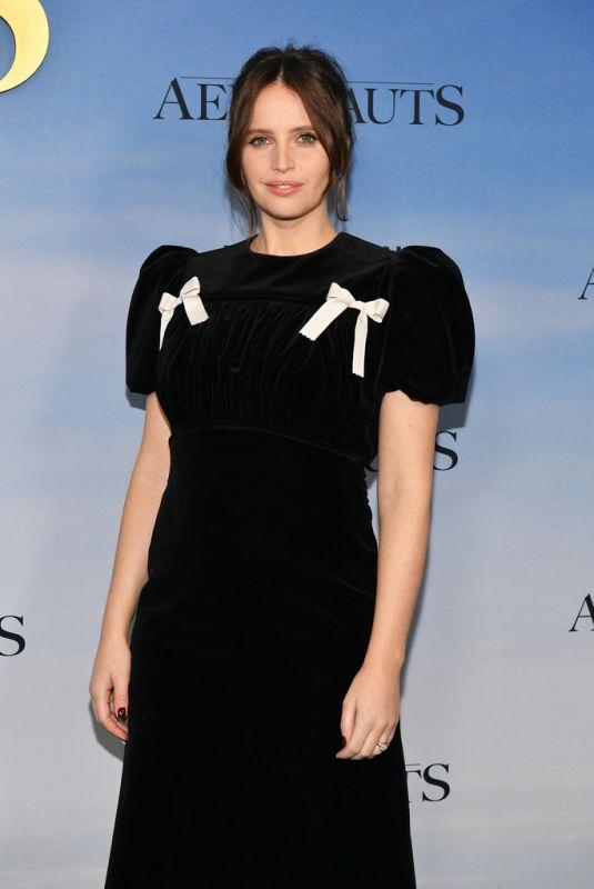 FELICITY JONES at The Aeronauts Premiere in New York 12/04/2019