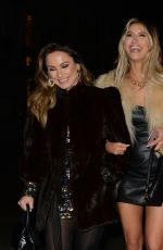 FERNE MCCANN and SAM and BILLIE FAIERS Leaves Baglatelle in London 12/14/2019