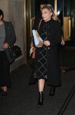 FLORENCE PUGH Leaves Today Show in New York 12/10/2019