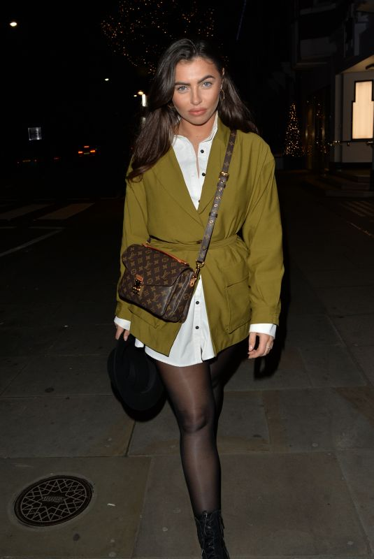 FRANCESCA ALLEN Arrives at Drama Nightclub in London 12/29/2019