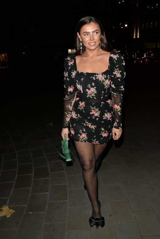 FRANCESCA ALLEN Night Out in London 12/09/2019