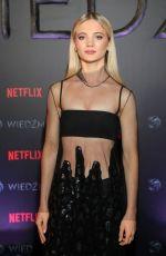 FREYA ALLAN at The Witcher Premiere in Warsaw 12/18/2019