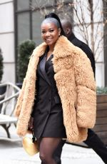 GABRIELLE UNION Leaves Her Hotel in New York 12/16/2019