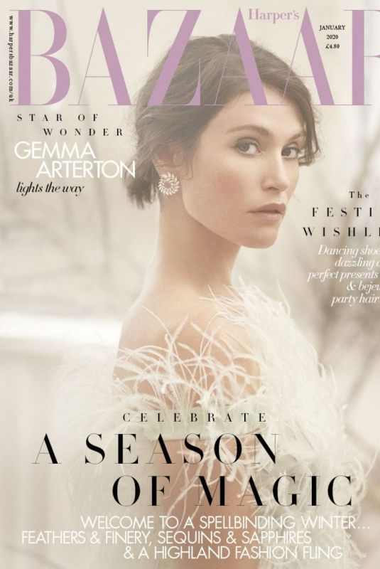 GEMMA ARTERTON in Harper's Bazaar Magazine, UK January 2020