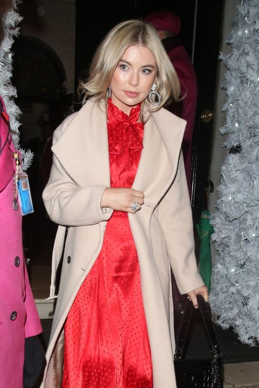 GEORGIA TOFFOLO Leaves Annabel's Members Club in London 12/17/2019