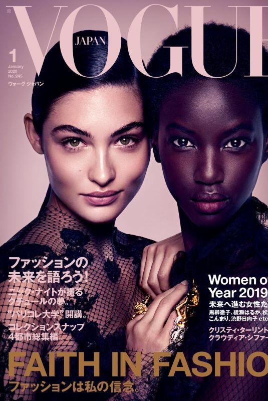 GRACE ELIZABETH and ANOK YAI in Vogue Magazine, Japan January 2020