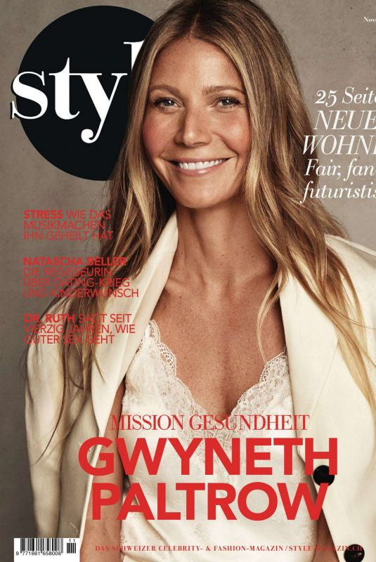 GWYNETH PALTROW in Style Magazine, Germany November 2019