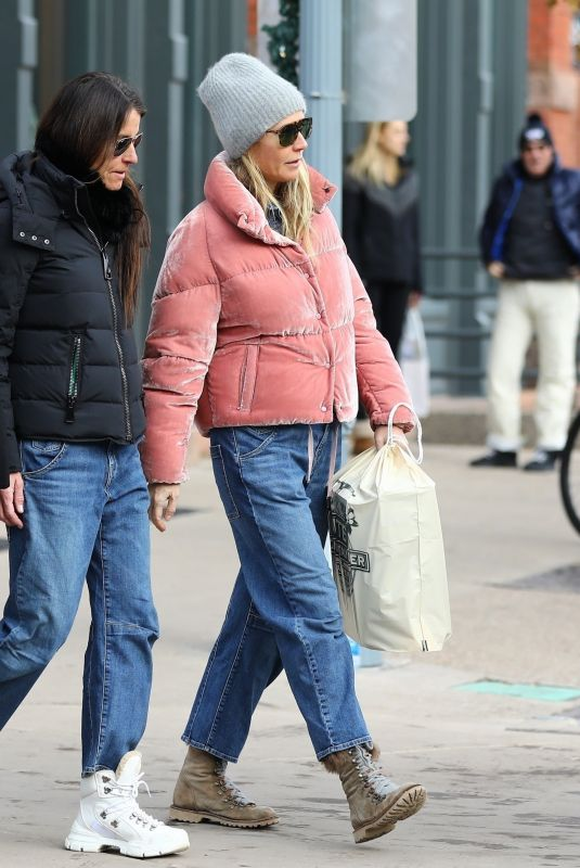 GWYNETH PALTROW Out Shopping in Aspen 12/23/2019