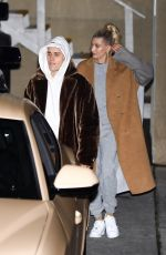 HAILEY and Justin BIEBER Arrives at Night Church Service in Beverly Hills 12/04/2019