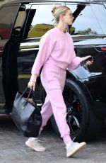 HAILEY BIEBER Arrives at a Spa in Beverly Hills 12/11/2019