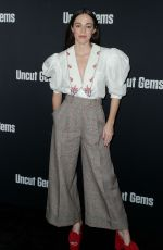 HAILEY GATES at Uncut Gems Premiere Hollywood 12/11/2019