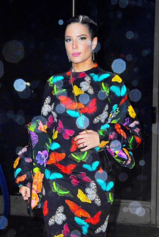 HALSEY Leaves Z100's Jingle Ball Afetr-party in New York 12/13/2019