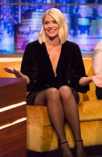 HOLLY WILLOGHBY on the Set of Jonathan Ross Show in London 12/07/2019