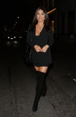 INDIA REYNOLDS Leaves Tape Night Club in London 12/14/2019