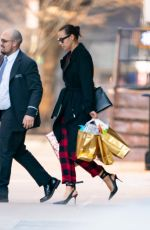 IRINA SHAYK Out on Christmas Day in New York 12/25/2019