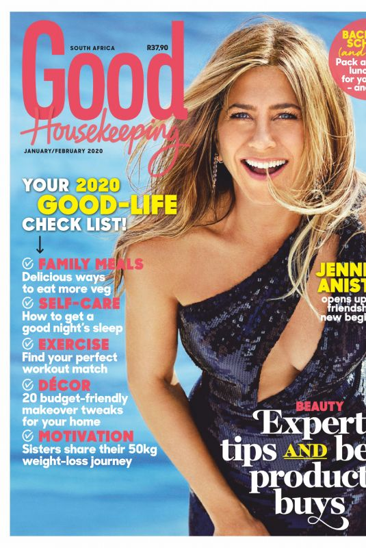 JENNIFER ANISTON in Good Housekeeping Magazine, South Africa January 2020