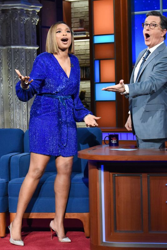 JENNIFER HUDSON at Late Show with Stephen Colbert 12/19/2019