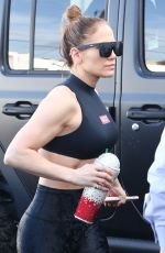 JENNIFER LOPEZ in Tights Arrives at Yoga Studio in Miami 12/21/2019