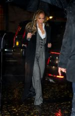 JENNIFER LOPEZ Night Out in New York 12/01/2019
