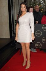 JESSICA WRIGHT Arrives at Tric Christmas Charity Lunch in London 12/10/2019