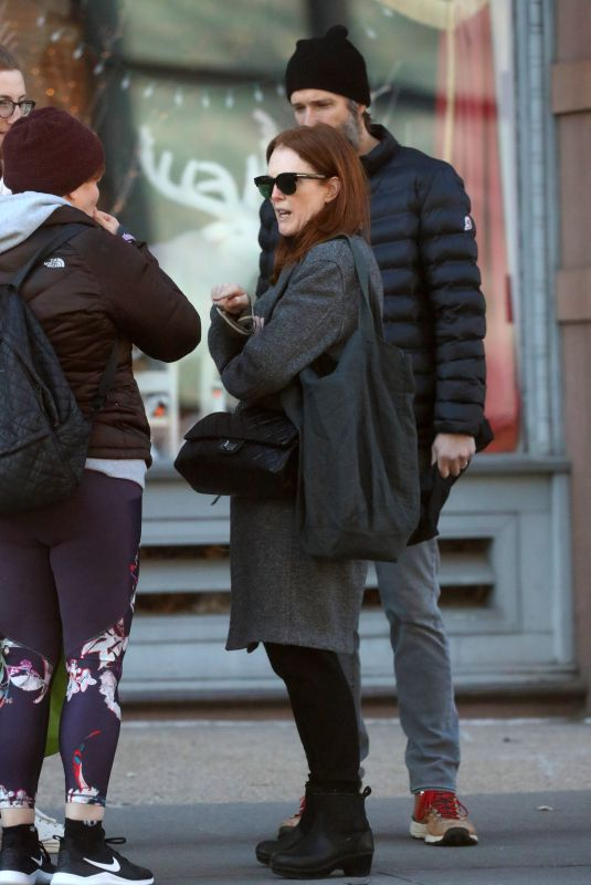 JULIANNE MOORE Out and About in New York 12/23/2019