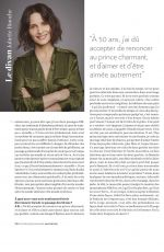 JULIETTE BINOCHE on Psychologies Magazine, France January 2020