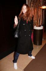 KAREN GILLAN Arrives at Her Hotel in Paris 12/02/2019