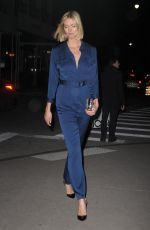 KARLIE KLOSS in a Blue Jumpsuit Out in New York 12/12/2019