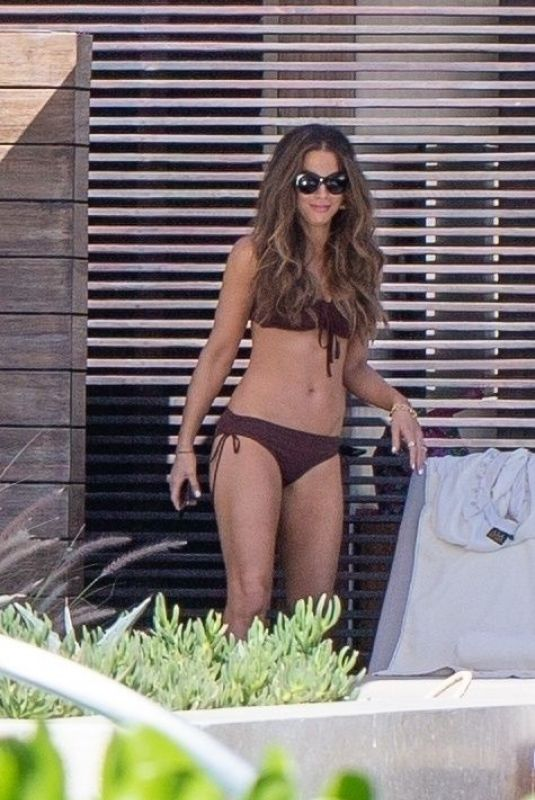 KATE BECKINSALE in Bikini on Vacation in Los Cabos 12/01/2019