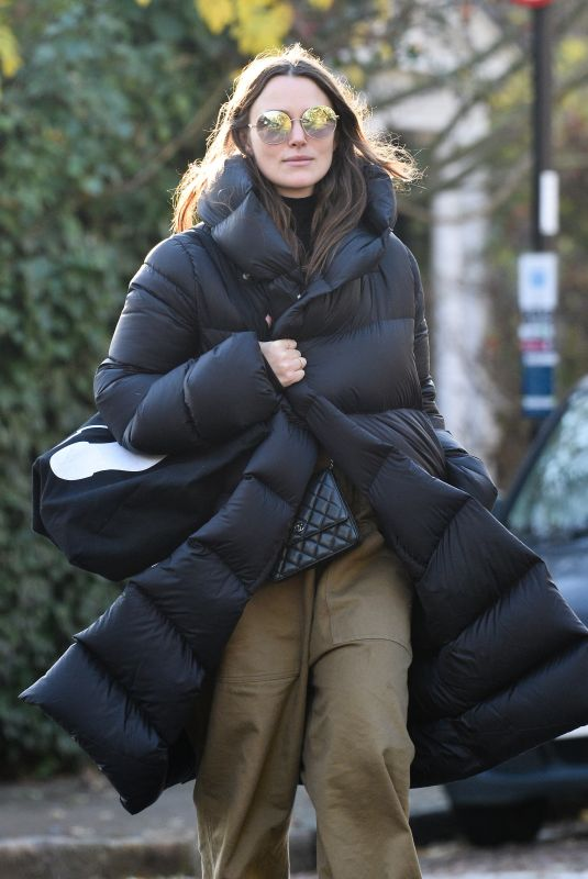 KEIRA KNIGHTLEY Out and About in London 12/04/2019