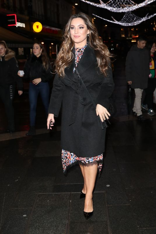 KELLY BROOK Leaves Heart Radio Afternoon Show in London 12/17/2019