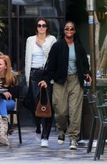 KENDALL JENNER and JUSTINE SKYE Out for Lunch in West Hollywood 12/02/2019