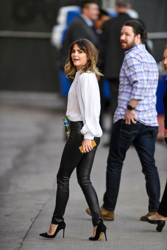 KERI RUSSELL Arrives at Jimmy Kimmel Live! in Los Angeles 12/16/2019