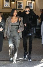 KIM and KHLOE KARDASHIAN Out for Lunch at Grandville Restaurant in Studio City 12/02/2019