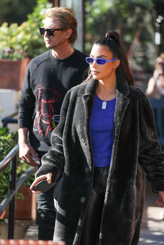 KIM KARDASHIAN and Jonathan Cheban Out for Lunch in Los Angeles 12/13/2019