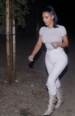 KIM KARDASHIAN Out for Dinner in Los Angeles 12/04/2019