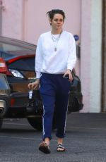 KRISTEN STEWART and DYLAN MEYER Leaves a Nail Spa in Hollywood 12/02/2019