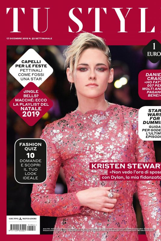 KRISTENS TEWART in Tu Style Magazine, December 2019