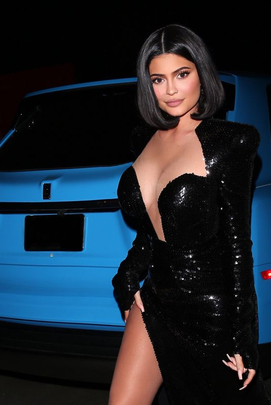 KYLIE JENNER Heading to P.Diddy's Private Exclusive A-list Party in Holmby Hills 12/14/2019