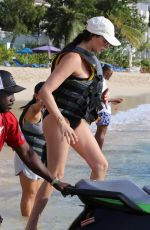 LAUREN SILVERMAN in Swimsuit at a Beach in Barbados 12/20/2019
